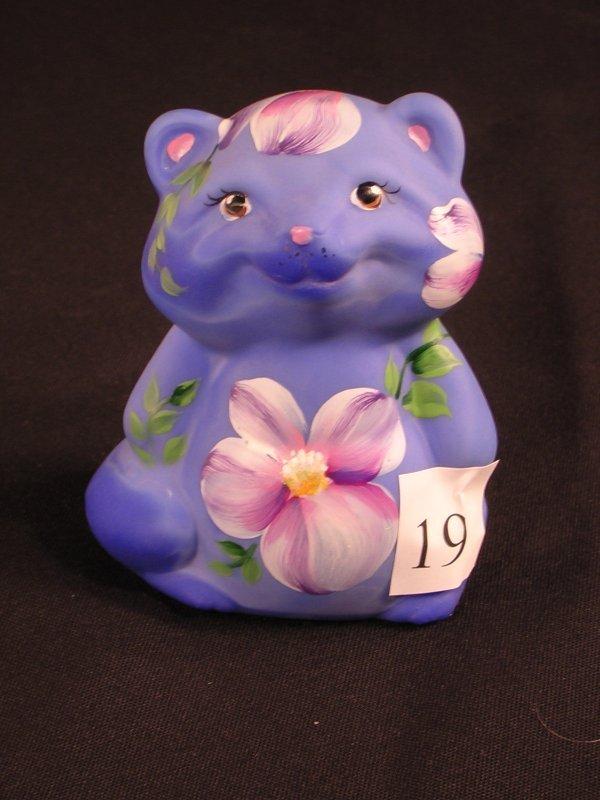 """19:     Designer Sample: Periwinkle Blue Raccoon 3.5"""" f"""