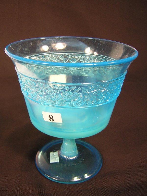 8: Sample: Blue Opalescent 6380 Flower Band pattern lar