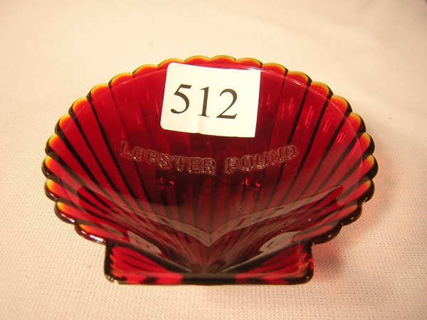 "512: Fenton Little Shell Advertising Dish  ""Lobster Pou"