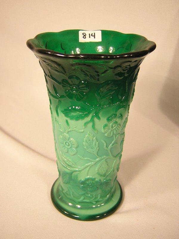 Fenton mongolian green peacock vase 7 12 814 fenton mongolian green peacock vase 7 12h reviewsmspy