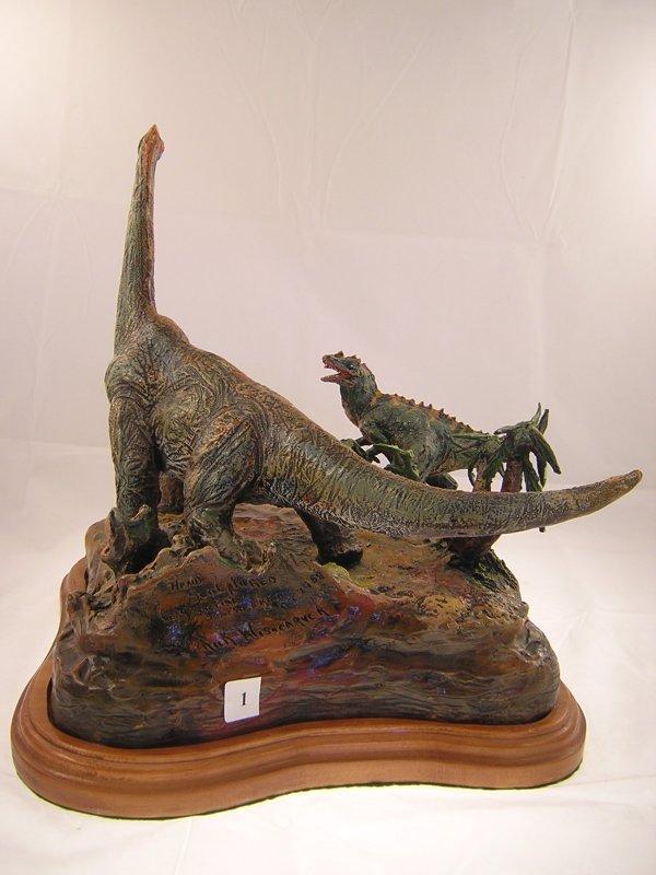 1A: Rare Diamera of Dinosaurs - sign ( Hand Sculptured