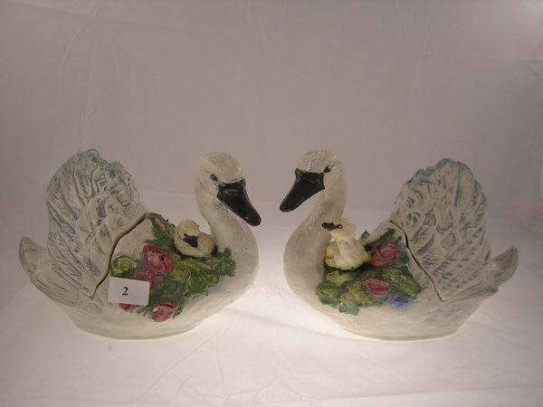 """2A: pr. Geese """"one of a kind hand sculptured Geese 1992"""