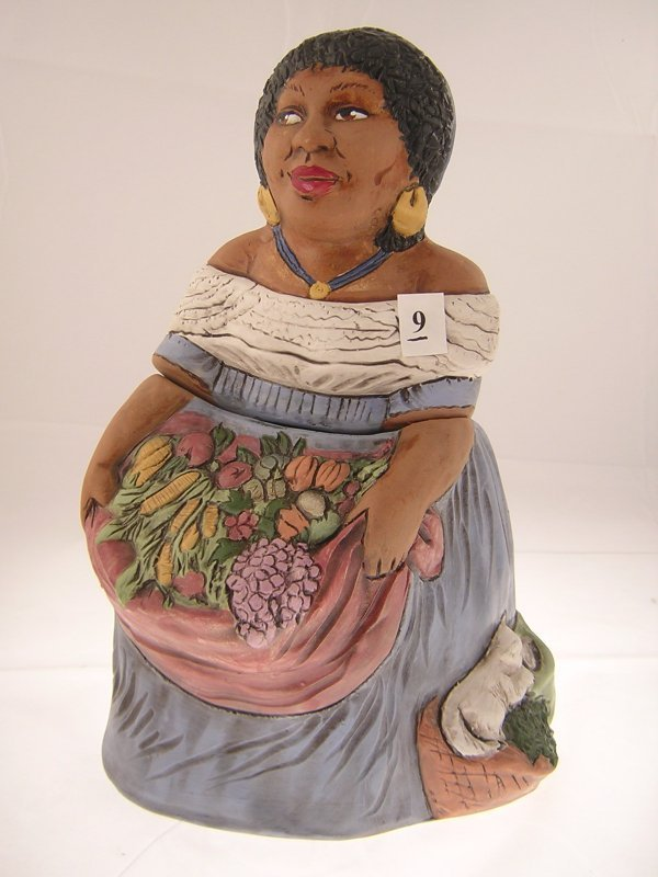"""9A: Rick Wiscarver Young Mammy Cookie Jar  ( 13""""t  ---"""