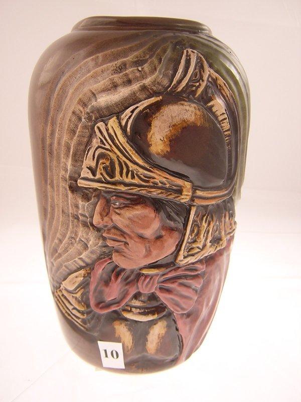 10A: Rick Wisecarver hand sculptured Vase w/ Roman Sold