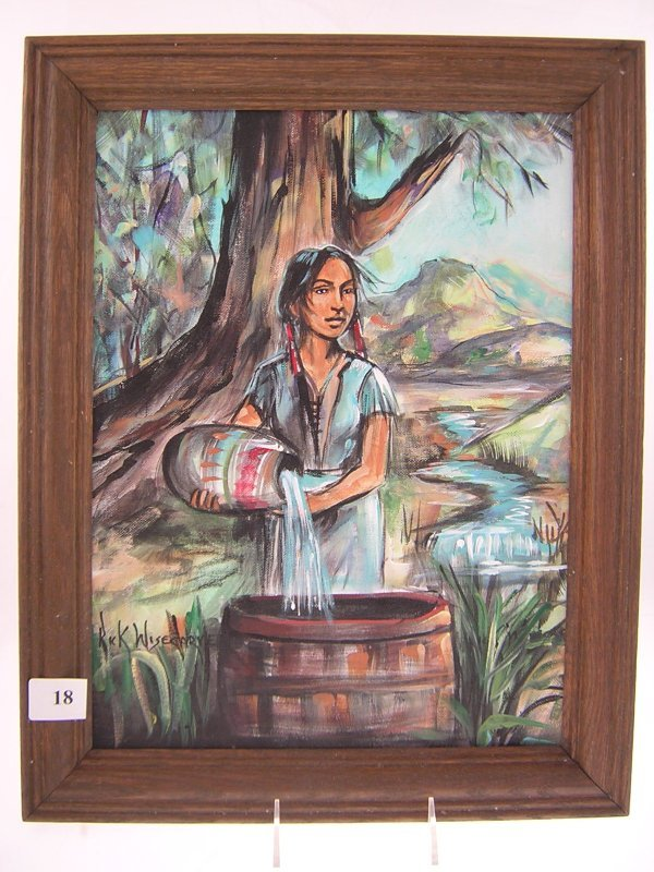 18A: Rick Wisecarver Painting - Indian Girl   ( image s