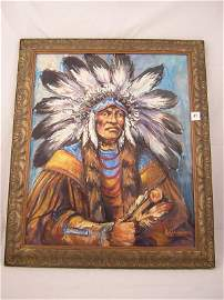 """47A: Rick Wisecarver Framed Painting  """"1992""""   ( image"""