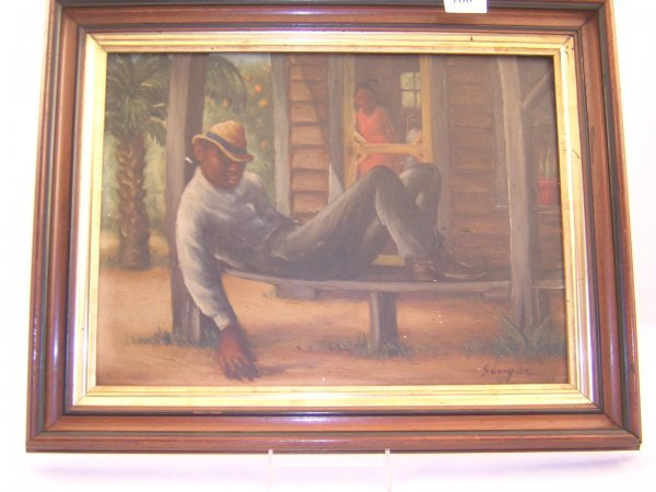 166A: Painting by Clyde Singer 1908-1999 -- ( image siz