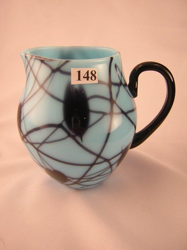 "148: Robert Barber sample: This 5-3/4"" tall turquoise b"
