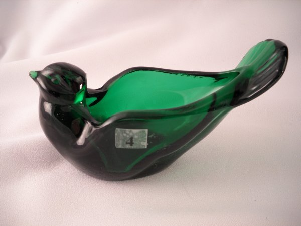 "4: Holiday Green 5240 GH Open Bird, 6.25"" long, made in"