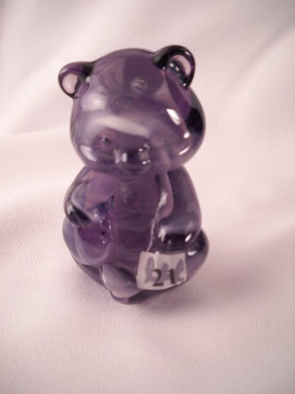 21: Slag animal figurine: 5151 Bear figurine, made in J
