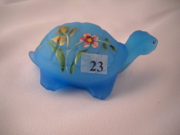 23: Designer sample: opaque Sky Blue Turtle figurine (4