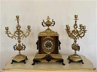 French clock set