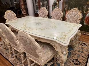 Italian Silik dining and 8 chairs
