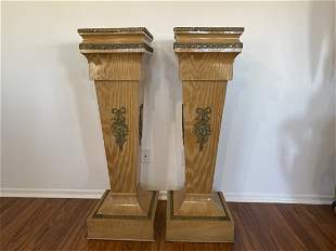 Pair of French style pedestals