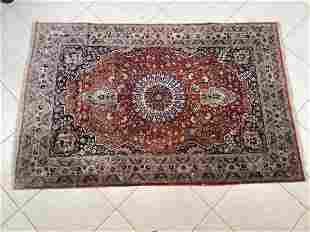 Oriental silk rug