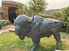 Monumental bronze buffalo bison