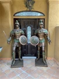 Monumental Bronze Roman Soldiers  Guardian