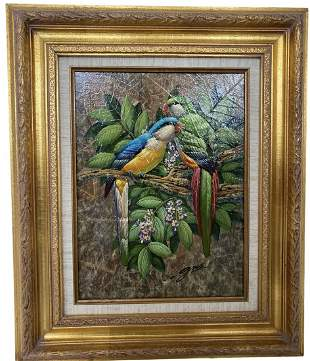 Birds painting with signature