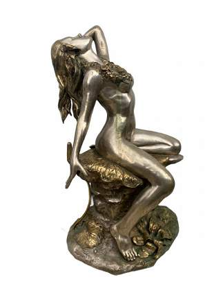 Large Erotic Hawaiian bronze lady fountain