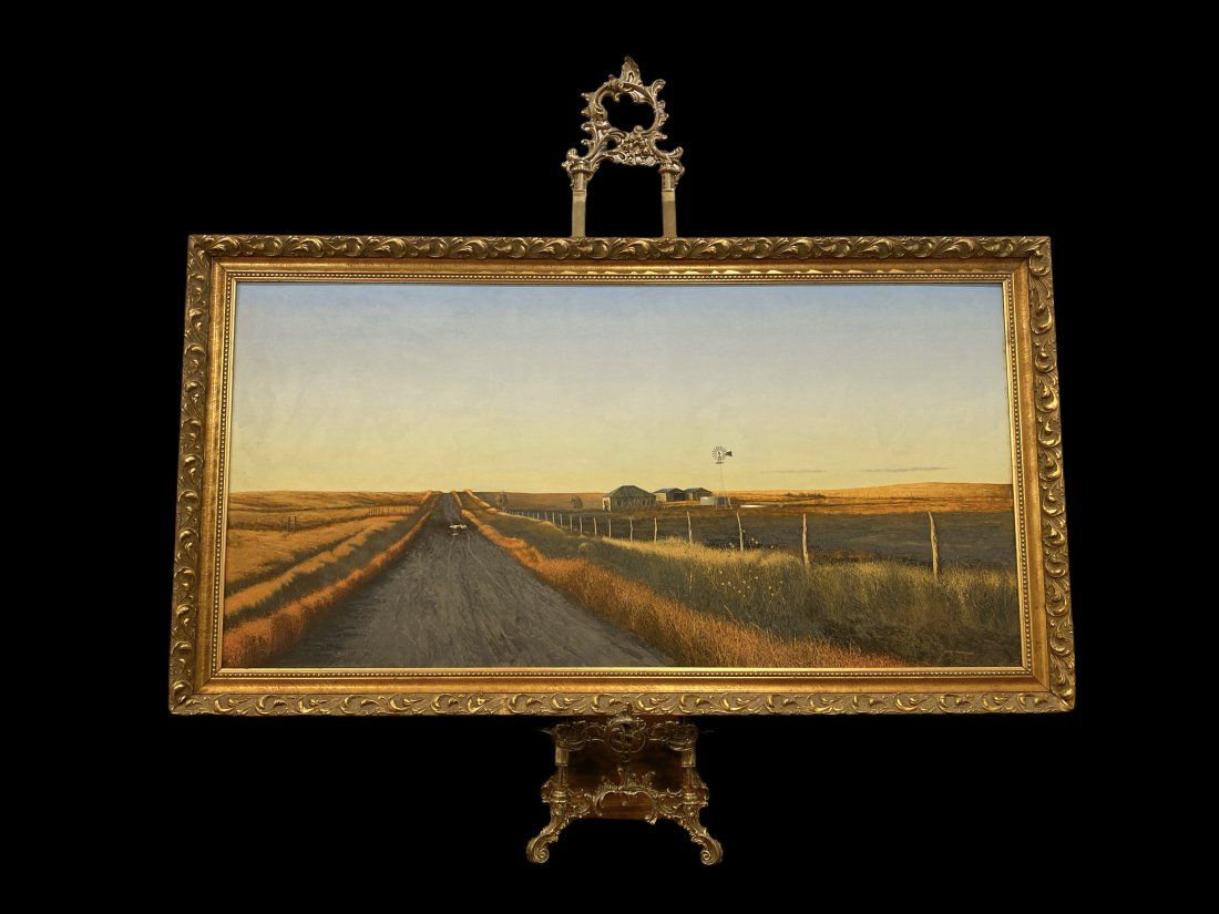Walt Johnston Windmill and Tank Painting