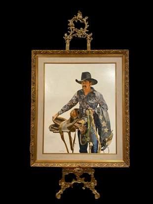 Walt Johnston Portrait of a Cowboy