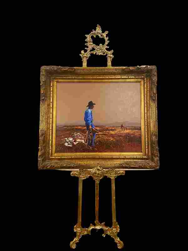 A New Day- Cowboy - Lawrence Benjamin Porter Painting