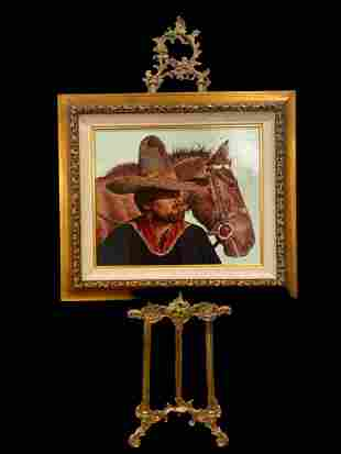 His Father's Sombrero - Lawrence B. Porter Painting