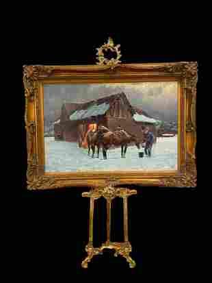 Western Winter - Hector Morales Painting