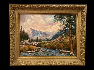 Fall in the Rocking Mountain Painting by Maurice Green