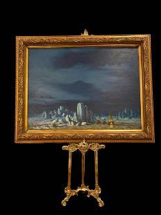 Winter Encampent - Thomas L. Lewis Art Painting