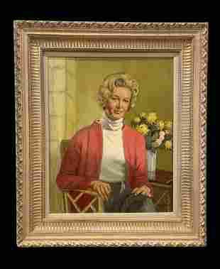 Vintage Lady Portrait - Oil on Canvas