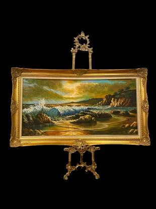SeaScape Oil Painting - Signed