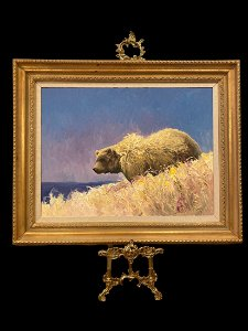 Huge Oil Wild Life Painting - Signed