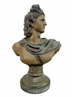 Huge Bronze Apollo Bust