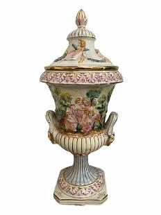 Large Rare Capodimonte Vase