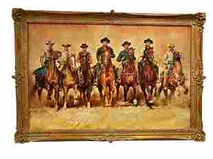 The Magnificent Seven -Oil On Canvas - Renato Cavaro
