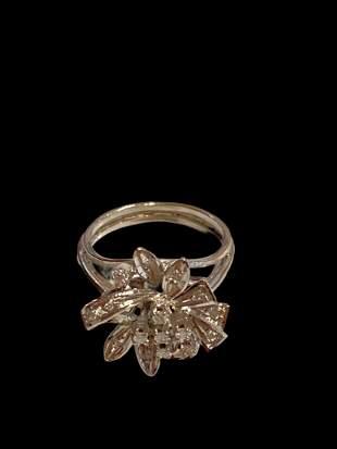 Diamond Ring Palladium Silver