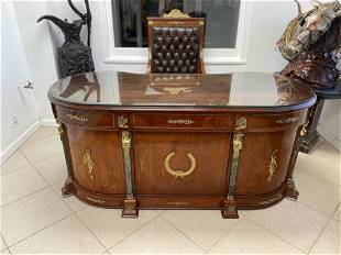 French Louis XV Desk and Chair