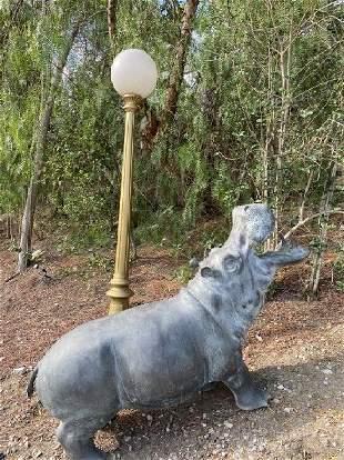 Bronze Hippo Statue Fountain