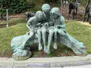 Life Size Bronze Kids Sculpture