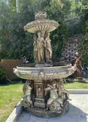 Monumental Four Season Ladies Fountain