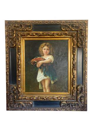 Oil Painting On Panel Girl