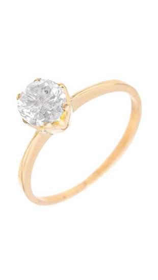 1.0 ct Diamond Ring 18K