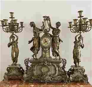 Oversized French Clock Set
