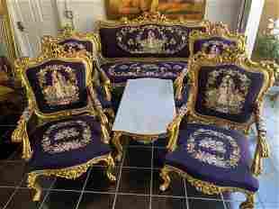 Louis XV style Needlpoint living room set