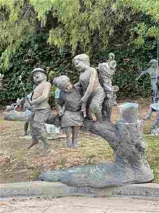 Life Size Bronze Children