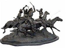 Massive Frederic Remington Bronze Dragoons 1850-1917
