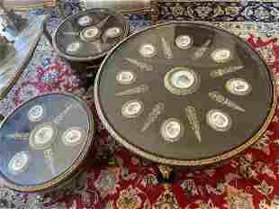 Louis XV French Empire Mahogany Table Set Sevres
