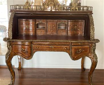 French Style Roll Top Desk