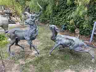Life Size Bronze Deers